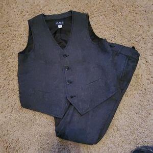 Boys Herringbone Pants and Vest Set